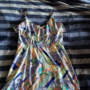 NWOT Kenneth Cole flounce top coverup dress